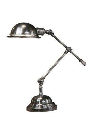 Bureaulamp Melbourne oud zilver