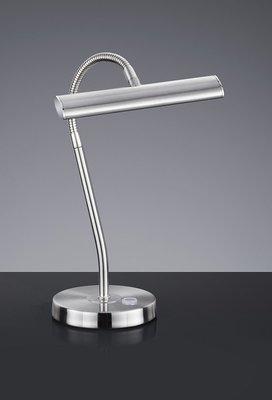 Piano/Bureaulamp met touchdimmer staal