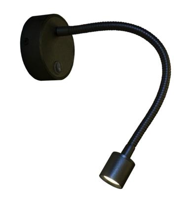 Wandleeslampje Mini flex Led zwart