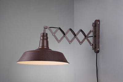 Schaarlamp XL roest